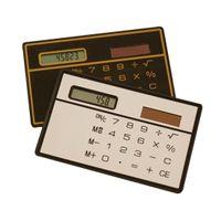 휴대용 미니 계산기 태양 포켓 계산기 과학 계산기 다기능 계산기 사무실 편지지 임의의 색상