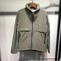 CP Topstoney 20fw tecido à prova d'água de casaco de casca suave com pelúcia no outono e inverno moda homens windbreaker casaco001