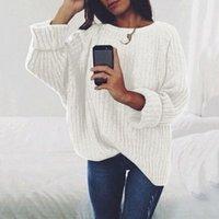 Warme Herbst Winter Frauen Pullover und Pullover Langarm Casual Pullover Lose Massive Strickseiter Damen