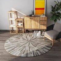 Moquette rotonda moderna in stile nord-europeo soggiorno camera da letto divano tavolino tavolino tappeto tappeto tappeto tappeto tappeto tappeto