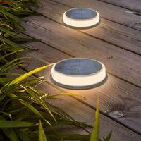 LED Solar Sol Lights Jardin Étanche Etanche Solaire Solar S'allume pour Pathway Yard Walkway Patio Peluche pelouse de plancher LED