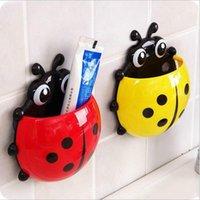 Ladybug حاملي معجون الأسنان الخنفساء تخزين المنزل الجدار شفط sueporte إسكوفا دي dente parede الأدوات المنزلية acessorio fwe6222