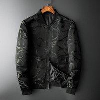 Men's Jackets 2021 Jacquard Man Luxury Zipper Autumn Winter Casual Mens Coats Fashion Slim Fit Royal Male Plus Size 5xl