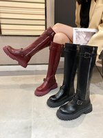 Boots Lolita Boots-Women Sexy Thigh High Heels Autumn Shoes Zipper Luxury Designer Round Toe 2021 Over-the-Knee Rubbe
