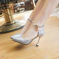 Dress Shoes Women Heels Sandals 2021 Summer Autumn High Women's Chaussure Femme Zapatos Mujer