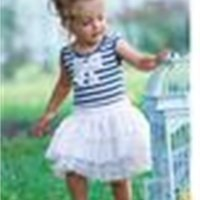 Yaz yeni çocuk etek çizgili yay elbise üreticileri, bellne suçlamak