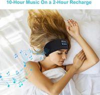 Bluetooth Earphones Sleeping Headphones Sports Headband headset Thin Soft Elastic Comfortable Wireless Music Eye Mask for Side Sleeper