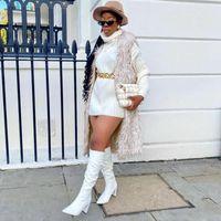 Winter Tassel Coat For Women Plush Mujer Faux Fur Solid Casual Sleeveless Warm Vest Jacket Lone Cardigan Oat Women's Vests