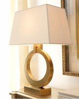 Pendant Lamps High Quality Modern Luxury Table Lamp Villa Golden Dining Decoration Nordic Retro Bedroom Bedside LED Light