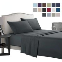 Sheets & Sets 12 Colors Bed Sheet Soft Full Size Flat Fitted And Case Twin Queen  King Solid Color