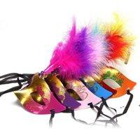 Festa máscara ouro glitter máscaras venezian unisex sparkle masquerade plástico metade face máscara halloween mardi gras traje brinquedo 6 cores rre10198