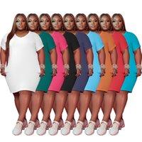9 colores Vestidos para mujer Manga corta Vestido suelto Verano Casual Streetwear Fashion Plus Tamaño Ropa