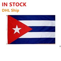 new cuba cuban flags country national flags 3x5ft 100d polyester fast high quality with two brass grommets DHE9732
