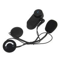 Walkie Talkie 1000M Bluetooth interphone Headsets de casque de moto Rider BT Wireless Moto Interphone Sharing Musique