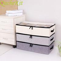 Folding Storage Box Underwear Divider Lidded Closet Organizer Shoes Storage Organizer Box Dust Cover Drawer Organizer Adjustable