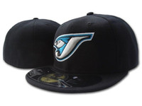 Wholesale вся команда вентилятора Blue Jays Royal Blue Attifated бейсбол встроенная шляпа Braves на полевой смеси Размер заказа Закрытый плоский базовый база Ball NY