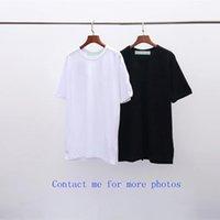 2021Ofow Erkek Tshirt Mektup 03 Tasarımcı T Gömlek Moda Kısa OC Beyaz Ekip Boyun Geri Kırmızı Render Kol Ok Gelgit Marka Erkek Ve Kadın T-shirt Zebra Geçiş