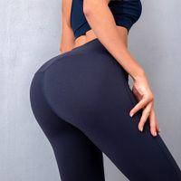 Женские трексуиты Lulu Йога костюм спортивный носить высокую талию бедро, поднимаясь легинги упражнения фитнес быстро сухой дышащий тонкий эластичный персиковые брюки