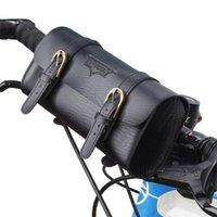Storage Bags Retro Bike Saddle Bag Riding Handle Mount Compact Phone Pouch PU Leather Bicycle Supplies Front Pannier Vintage Waistbag Outdoo