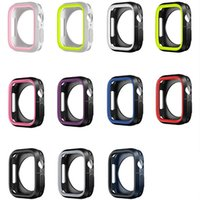 Silicone cover For Apple Watch case 44mm 40mm iWatch cases 42mm 38mm Bumper Protector series 6 5 4 3 SE Accessories