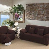1 2 3 4 مقاعد غطاء أريكة دنة الحديثة مطاطا البوليستر الصلبة الأريكة الغلاف كرسي أثاث حامي غرفة المعيشة 6 ألوان 471 v2
