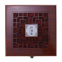 Bolsas de jóias, sacos Chinoiserie caixa de madeira com bloqueio de caixa de trinket jewels organizer presente