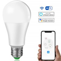 Bulbs Dimmable 15W B22 E27 WiFi Smart Light Bulb LED Lamp App Operate Alexa Google Assistant Control Wake Up Night