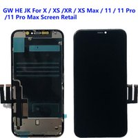GW For iPhone X Xs XR LCD Panels Used to repair phone display JK HE Oled 11 Pro Max Touch Digitizer Screen Assembly Replacement Gifts Tempered glass film & tools