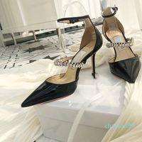 Moda di lusso Sandali Designer Sandali Donne Summer Banquet Dress Scarpe Pompe sexy con tacco alto Punte a punta Sling Sling Back Donne Shoe Top Quality 635