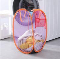 Wäschekorb Hamper Mesh Tragbare Faltbare Kleidung Hampfer für Kinderzimmer College Dorm Travel Home Organisation Körbe LLA6782