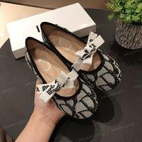 Детские детские туфли высочайшего качества дизайн принцессы милые девушки бантики кроссовки дышащие маленькие случайные детские ботинки с коробкой