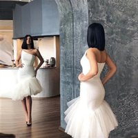 Simple Knee Length Mermaid Prom Dresses One shoulder Sleeveless Zipper Back Short Cocktail Party Gowns Formal Evening Dress