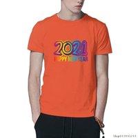 Счастливый год мода мужчина футболки оранжевый цвет черный белый базовые мужчины женские ежедневные тройники одежда XS-5XL мужские футболки мужские