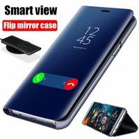Cell Phone Cases Smart Mirror Flip Case For Xiaomi Redmi Note 10 9 9s 8 8T Poco X3 NFC M3 7 10s Pro Max 6A 7A 9A 9C Mi 9T 10T Lite Cover Coque