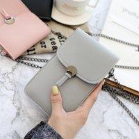 Storage Bags Touch Screen Purse Wallet Leather Shoulder Strap Handbag Women Bag RRD7546
