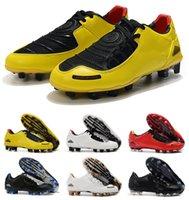 Classic New Chegada Mens Total 90 Laser I Se FG Sapatos de Futebol Top Quality Limited 2000 Black Amarelo Amarelo Athletic Soccer Greats Tamanho 35-45