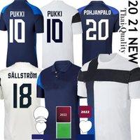 Thai فنلندا كرة القدم الفانيلة 2021 فريق سومي الوطني الرئيسية أبيض بعيدا الأزرق pukki skrabb ريتالا جينسين الرجال قمصان كرة القدم الزي الرسمي