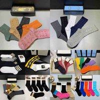 2021 Tasarımcılar Erkek Bayan Çorap Beş Çift Luxe Spor Kış Mesh Mektubu Baskılı Kaplan Kurt Kafa Çorap Nakış Pamuk Adam Çorap Kutusu Ile