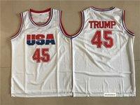 Hightower CRSPAW 44 Bryant Koleji Basketbol Beyzbol Takımları Donald 45 Trump Beyaz Gömlek Üniforma Punahou Barack 23 Obama Futbol Yüksek