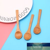 DIY Holz Runde Bambuslöffel Suppe Tee Kaffee Salt Löffel Jam Scoop Küchenwerkzeuge