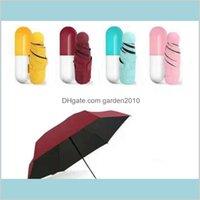 Guarda-chuvas domésticas diversões home jardim cápsula capa guarda-chuva ultra luz mini dobrável compacto bolso à prova de vento sol sn1052 dro