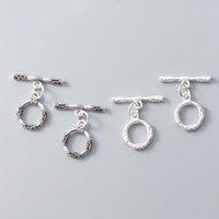 925 Стерлинговое серебро Toggle Clasps Hook Fit Браслеты Ожерелье Выводы Высококачественные серебряные разъемы для причудливых ювелирных изделий