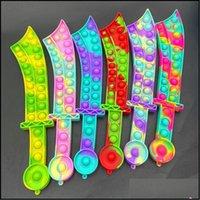 Event Festive Supplies Home & Gardenfidget Toys Push Bubble Katana Sword Shape Party Favor Sensory Puzzles Pop Bubbles Sile Board Game Educa