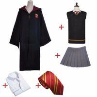 Gryffindor Hermione Granger Uniform Set Cosplay Disfraz Halloween