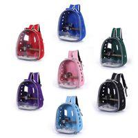 Pájaro loro mochila portador bolsa burbuja pequeño perro gato espacio mascota para excursiones de excursionismo cubiertas de asiento de automóvil