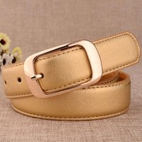 High Quality 100% Pure Cow Skin Leather Ladies Gold Pin Buckle Metal Cowhide Fashion Golden Belts for Women