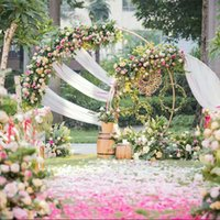 Party Decoration Circle Wedding Props Birthday Decor Wrought Iron Round Ring Arch Backdrop Lawn Artificial Flower Row Stand Wall Shelf