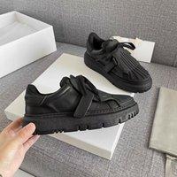 Lüks Tasarımcı Rahat Ayakkabılar Dokulu Mektup Baskı Dantel-up Kadınlar Moda Deri Platformu Sneaker Boyutu 35-41 Q-43