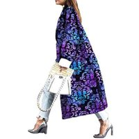 Trench Полный рукав Bandanna Распечатать Пальто Случайные Модные Передвижные Женщины Ветровка Внешняя Длинная Повязка