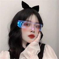 파티 용품 LED 안경 크리 에이 티브 플래시 빛 안경 LED 라이트 안경 미래 기술 안경 바 플래시 GlassesZC211